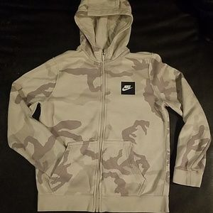 Nike Zip-Up Sand Cammo Hoody (nwot)